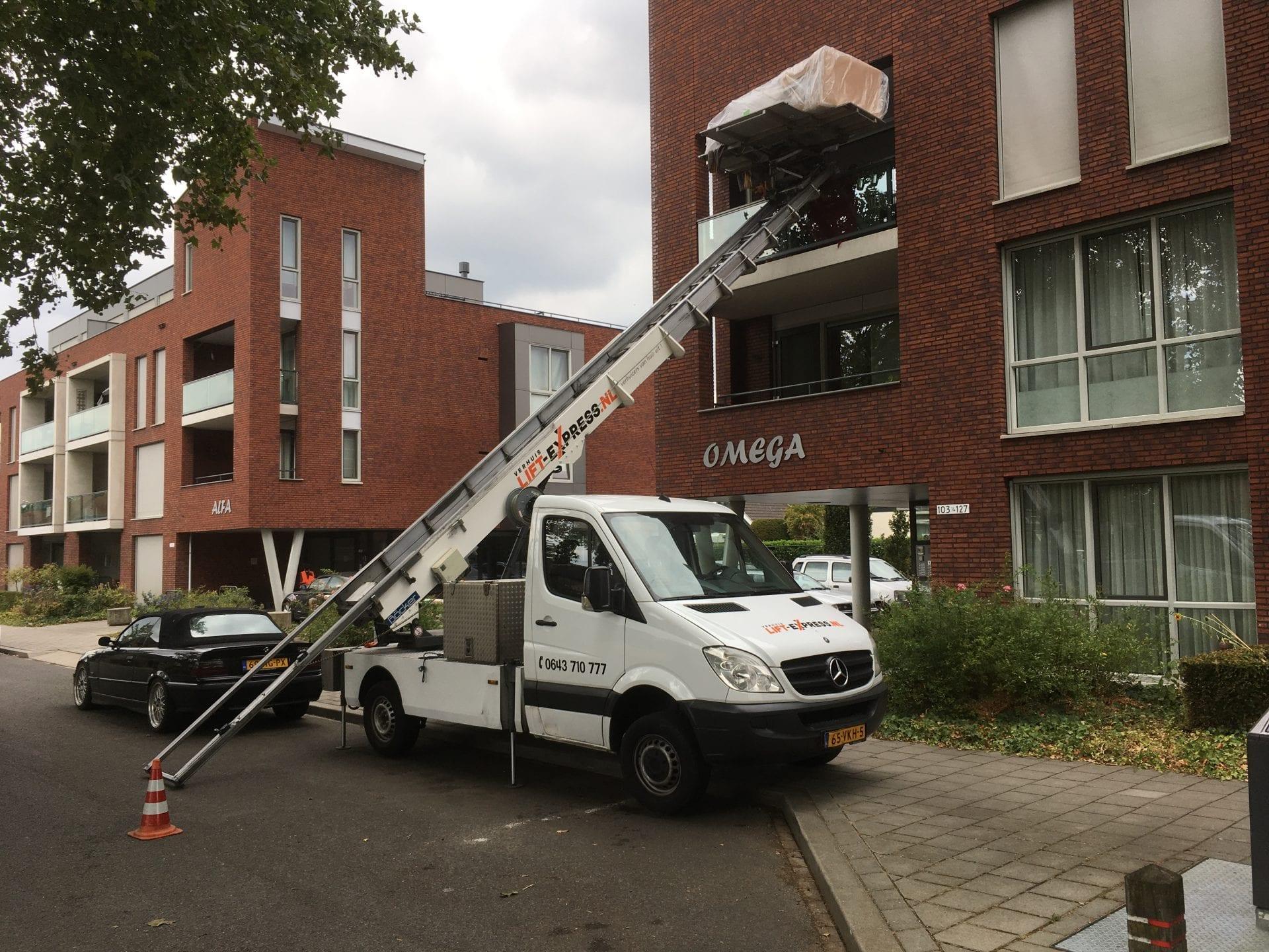 Verhuislift Venlo-Tegelen Ruys de Beerenbrouckstraat